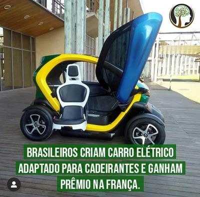 Brasileiros criam carro elétrico