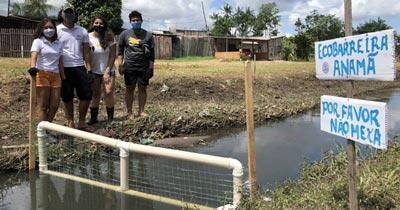 Estudantes do Pará criam ecobarreira